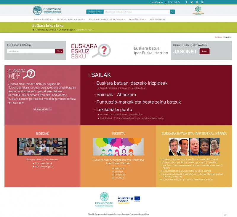 Le nouvel outil numérique de l'Académie de la langue basque