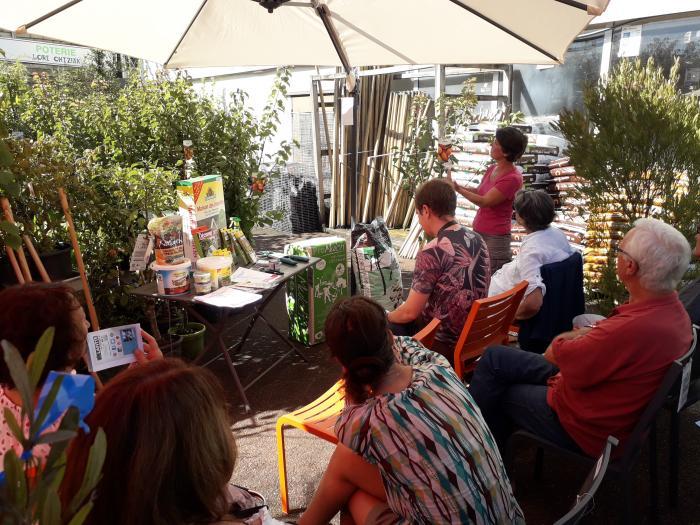 Atelier jardinage chez Lafitte