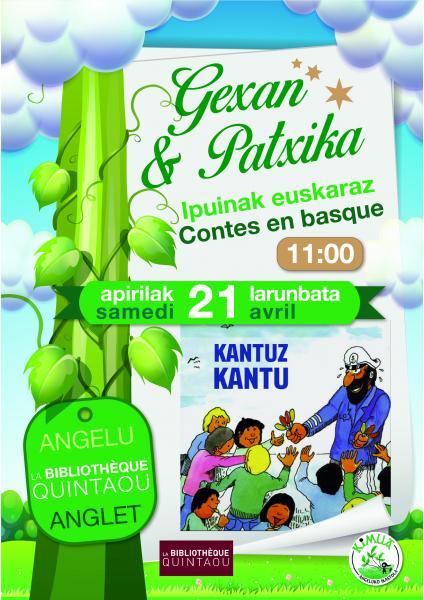 Contes en basque à Anglet - Quintaou