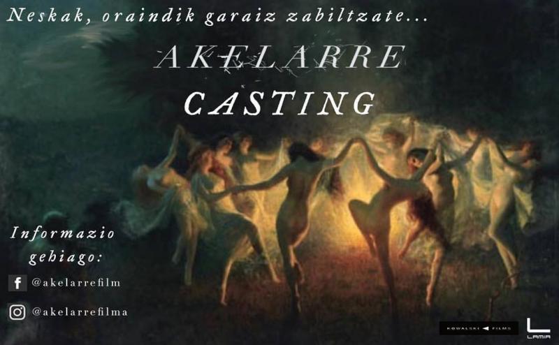 Casting : comédiens et figurants parlant basque pour le film Akelarre