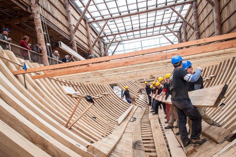 La reconstruction avait commencé en 2013.