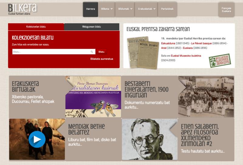 Bilketa, le portail des fonds documentaires basques