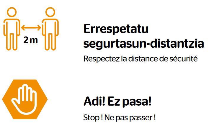Des affiches bilingues pour respecter les gestes barrières