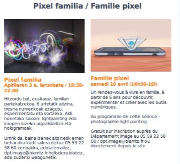 Pixel tailerra familientzat