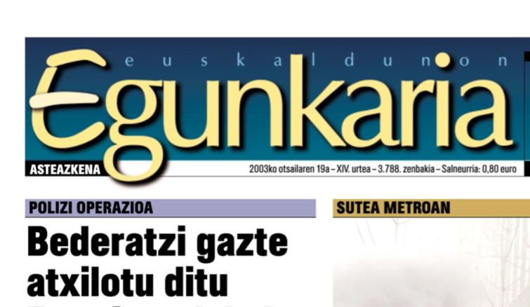 Berria est le successeur du journal Euskaldunon Egunkaria.