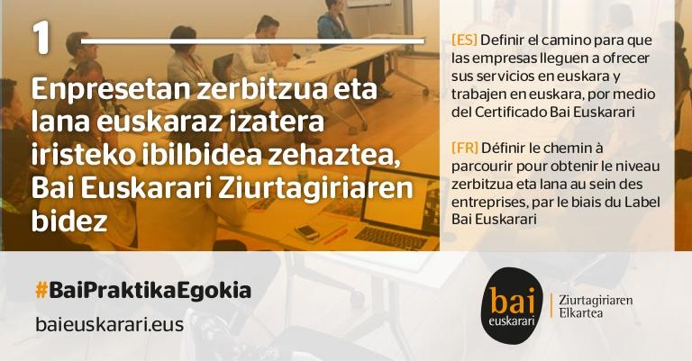 Offre d'emploi de Bai Euskarari