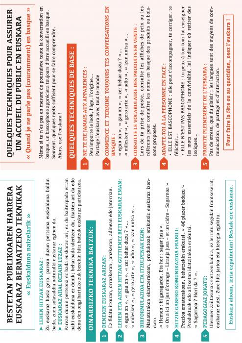 FICHE PRATIQUE | Accueil du public en basque