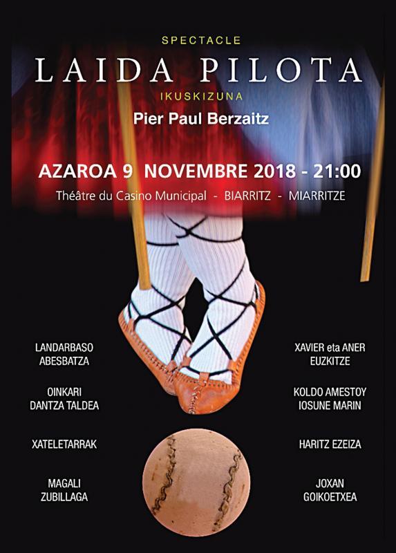Spectacle d'hommage à la pelote, par Pier Paul Berzaitz