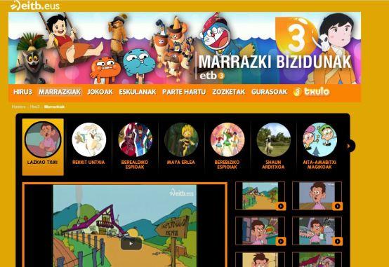 Les dessins animés en euskara