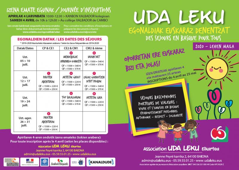 Uda Leku : des séjours en été, en euskara