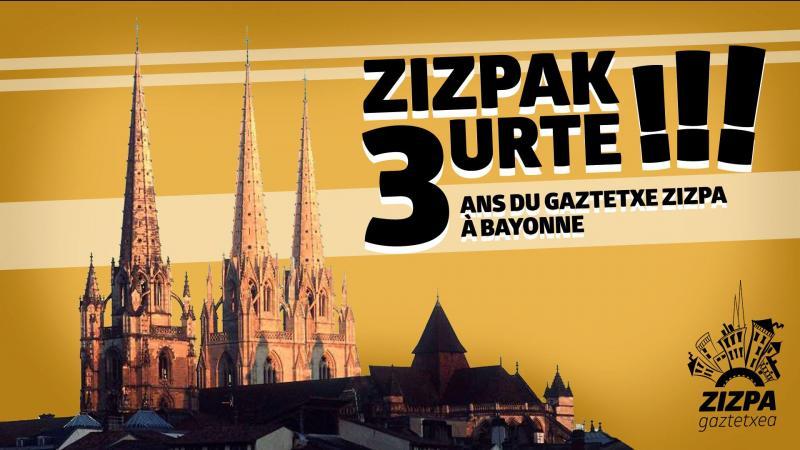 Zorionak Zizpa Gaztetxea (Baiona) !
