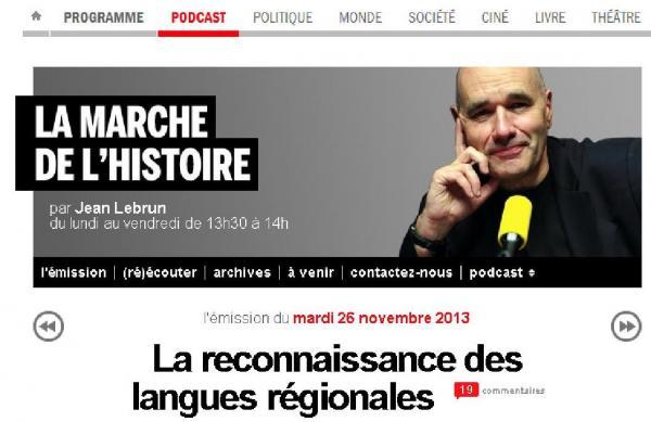 La reconnaissance des langues régionales sur France Inter