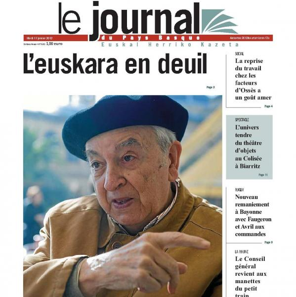 « L'euskara en deuil »