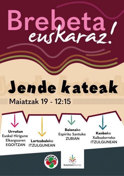Le brevet en basque : chaîne humaine