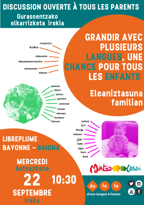 Grandir avec plusieurs langues