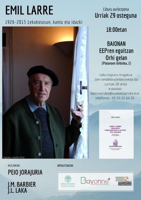 Emil Larre - 1926-2015 - Lekukotasun, kantu eta idazki