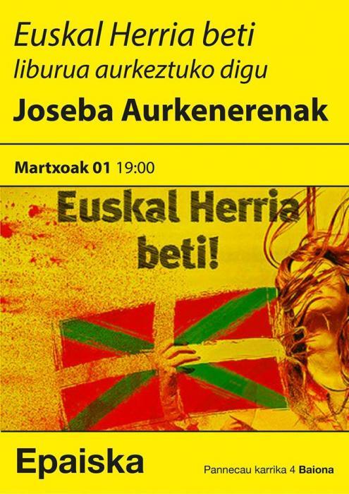 Présentation du livre de Joseba Aurkenerena