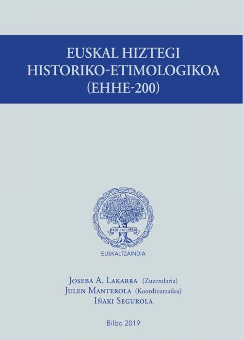 Présentation du dictionnaire historique-étymologique basque