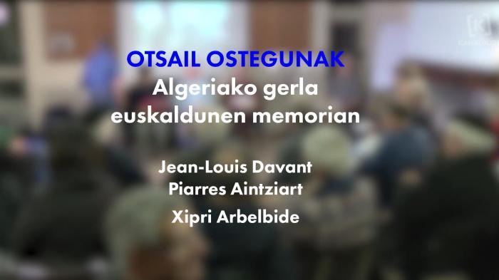 Otsail ostegunak : souvenirs de la guerre d'Algérie